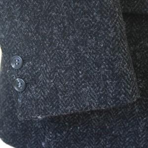 袖釦2個・ハリスツイード(Ex-made)