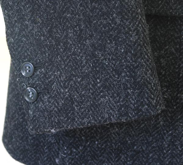 Ex|袖釦2個・ハリスツイード