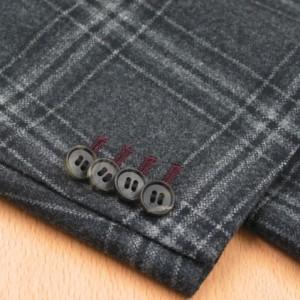 袖本開き・色糸穴かがりエンジ(Custom)
