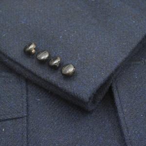 袖釦4個・革バスケット釦(Custom)