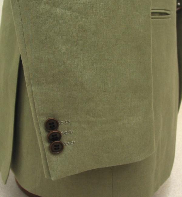 Cu|袖3個釦キス・ナットボタン