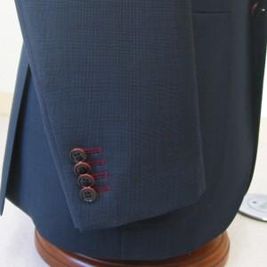 袖本開き・色糸穴かがり赤(Custom)