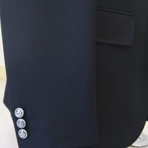 袖釦3個・メタル釦(Custom)