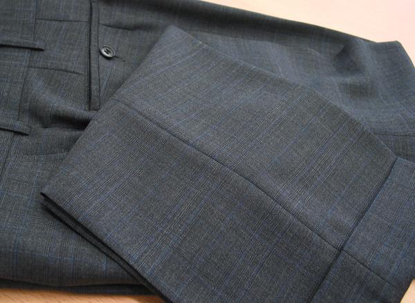 Ex|パンツ裾ダブル・グレーチェック