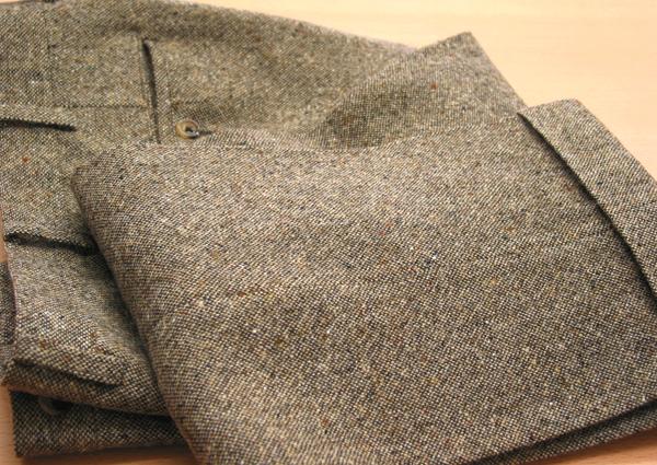 Ex|パンツ裾ダブル・ホームスパン