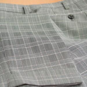 パンツ裾ダブル・チェック柄(Ex-made)