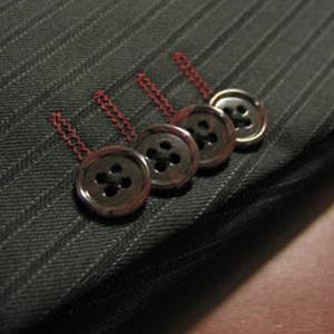 袖釦4個キス・色糸切羽(Custom)
