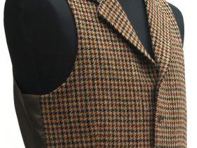Cu|6釦5掛ノッチ衿付き・ツイード