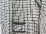 チェンジポケットの玉縁を別布で