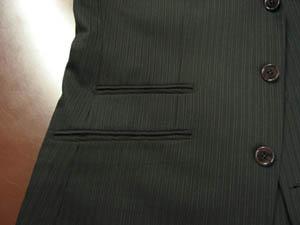 ジャケット腰ポケット-フタなしハッキング