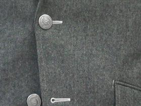 シルバー・メタル釦のフラノジャケット