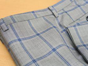 パンツの帯巾を細く、ループ長さを短く調整