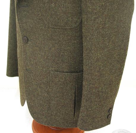 ジャケットの腰ポケット(ボックスポケット)