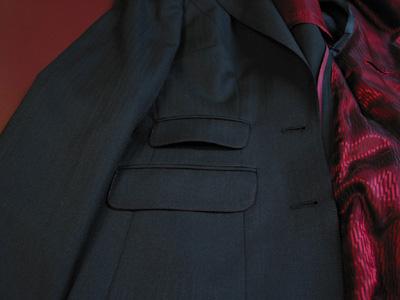 ジャケットの色ステッチ①