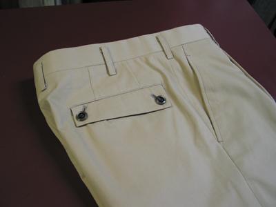 パンツの変わり型ポケット