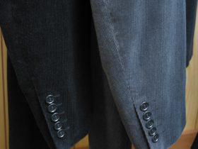 袖釦5個のカジュアルジャケット