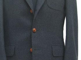 グレーフランネルの3パッチポケット・ジャケット