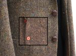 ツイードジャケットに革釦2種類
