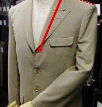 ジャケットのボタン位置調整