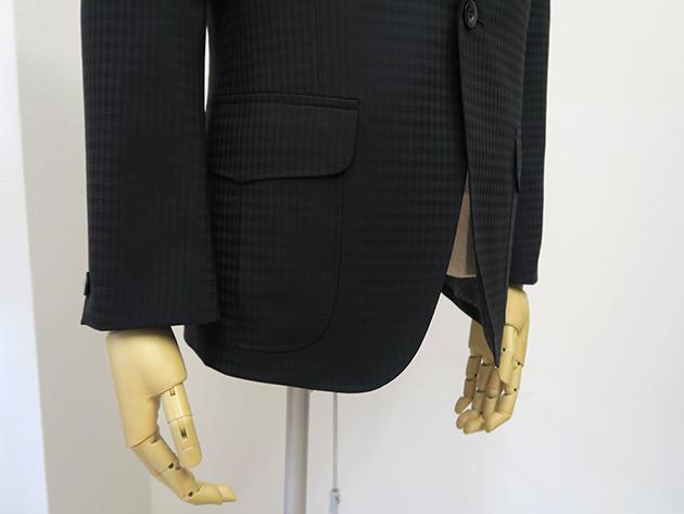 シャドウ柄スーツ・腰ポケットベース切り替え付きインボックス
