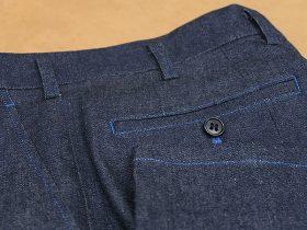 パンツの縫い糸を色糸指定