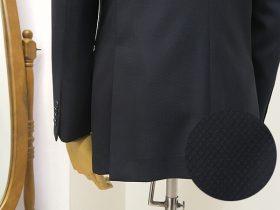 織り感のある生地で仕立てるオーダースーツ
