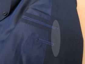 ポケット口の端を、南京玉縁