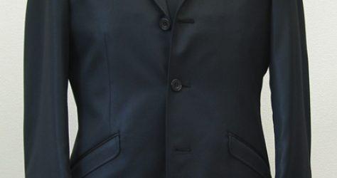 光沢スーツ黒・チンツストレッチ