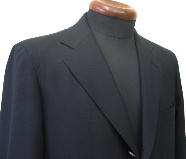 紺ブレノッチ衿|3釦段返り