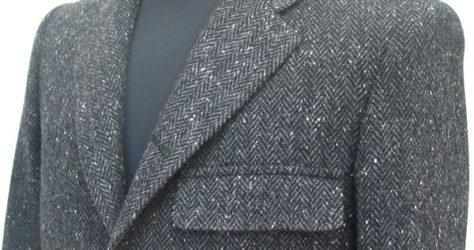 胸ポケットアウトフタ付き・ホームスパン