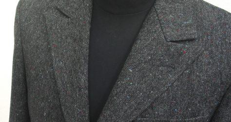 シングル3釦セミピーク衿