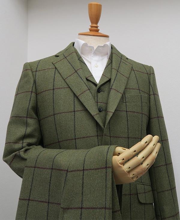 グレンロイヤル・ベスト衿付き3ピーススーツ