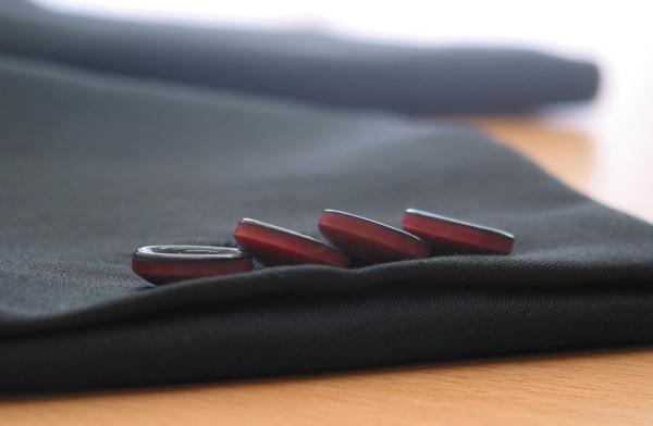 袖釦4個重ね釦・バイカラー(カスタム)