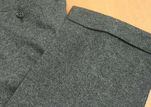 パンツ裾ダブル・グレーツイルパンツ(Ex-made)