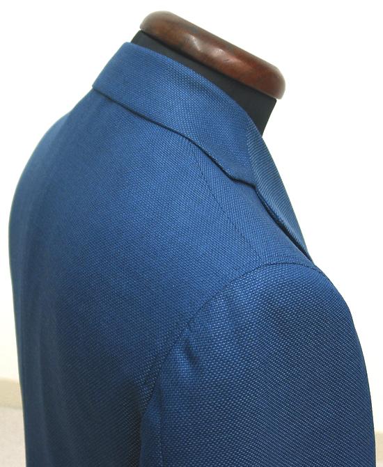雨降り袖・ライトネイビーカノニコサマーツイードジャケット(カスタム)