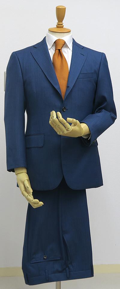 ライトネイビー・3釦段返りスーツ(Ex-made・クラシコ)