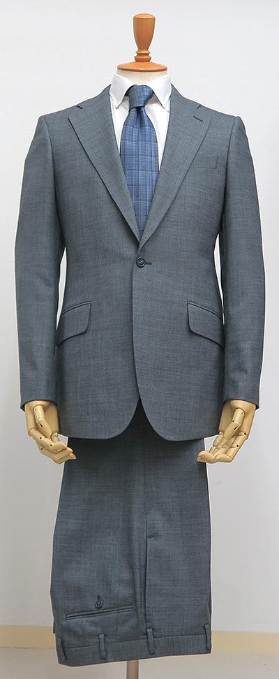 グレー・シングル1釦スーツ(カスタムライン・クラシコ)